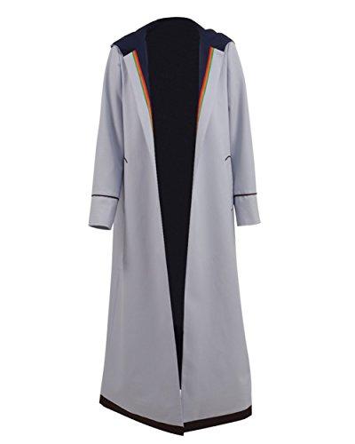 Hosenträger Hose Kostüm Cosplay (S, Grau Mantel) ()