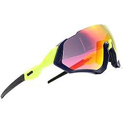 2018 Kit de Gafas de Sol Ciclismo 3LS Revo + polarizado + Transparente (Verde)