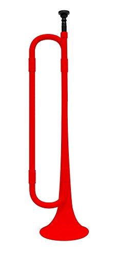 Moderne Kunststoff-Signalhorn-Trompete mit Mundstück: Rot und Schwarz: Bb Wohnung