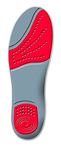 Sorbothane Double Strike Insoles - Red/Grey, Size 3-4 EU
