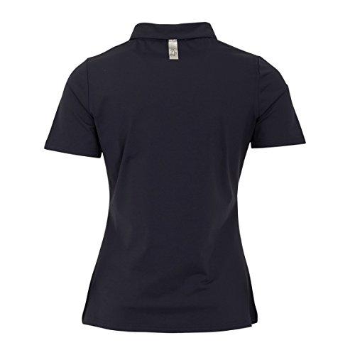 Green Lamb - T-shirt de sport - Femme Blanc/bleu marine