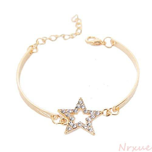 Armband Kristall Stern Charme Armbänder Für Frauen Vintage Gold Farbe Gliederkette Armreif Klassische Manschette Armbänder Partei Schmuck