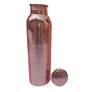 Sixth Sense Reines Kupfer Wasser/Wein Flasche, Gelenk frei und undurchlässig Wasser Flasche mit Ayurveda Gesundheit Vorteile und fasst 900ml. 16x 7cm. 300Gramm, kommt mit tief Gewinde Deckel