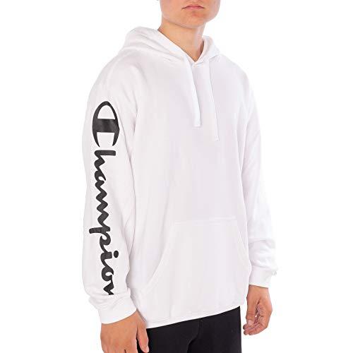 Champion Herren Hooded Sweatshirt Kapuzenpullover, Weiß (Wht Ww001), Small Champion Fleece-sweatshirt