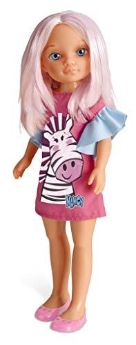 Nancy - Un Día de Color, muñeca con el pelo rosa (Famosa 700015030)