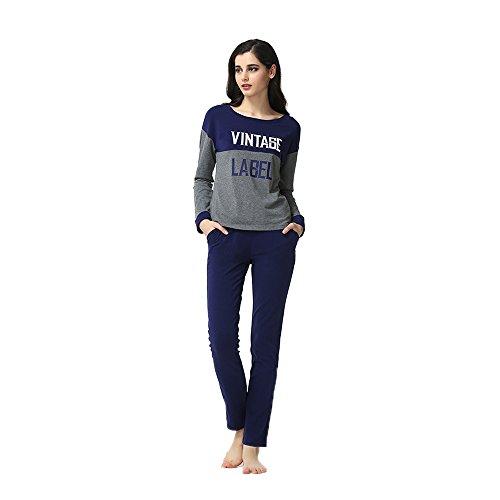 Donne - Pigiama Stampe Maniche lunghe pigiama Blu