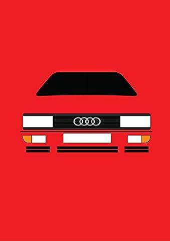Audi Ur Quattro–Retro Motor Company Grußkarte