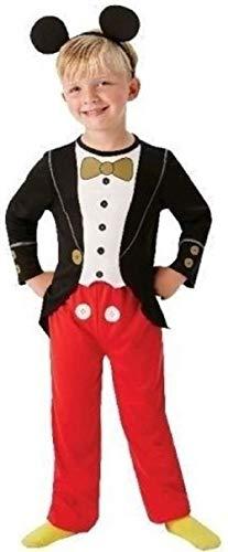 (Jungen Offiziell Disney Mickey Mouse Büchertag Halloween Cartoon Kostüm Kleid Outfit - Rot, 3-4 Years)