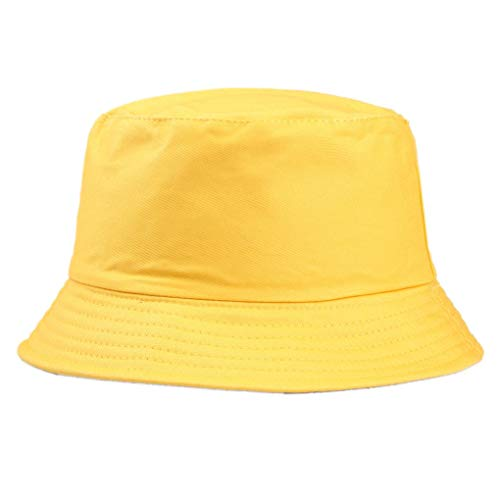 n-Sommer-Fischerhut Solid Color Fisherman Beach Festival Sun Cap Bucket Cap ()