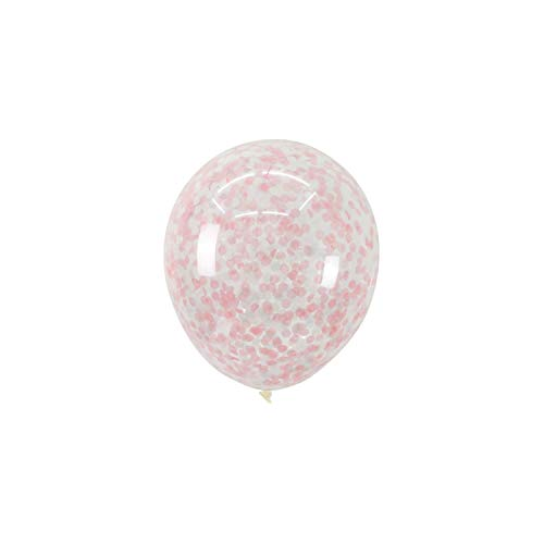 Foil Confetti Transparent Luftballons Alles Gute Zum Geburtstag Babyparty Hochzeit Dekorationen, Rosa, Weiß, (Maroon Und Gold Ballons)