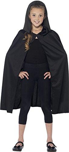 Kapuze Cape Lang (Schwarzes Mantel Kostüm Ideen)