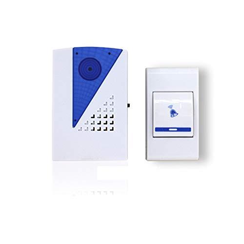 Preisvergleich Produktbild HEIFEN Kabellose Türklingel Weiß,  1 Empfänger,  1 Sender,  Sender und Empfänger mit Batterie,  36 Klingeltöne,  Wasserdicht,  200 m Arbeitsbereich,  1 Lautstärkepegel