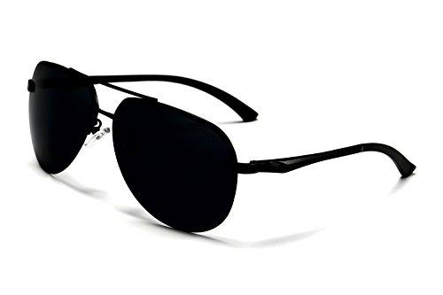 AORON HD Mode Polarisierte Sonnenbrille Herren Outdoor Sportarten Schutz Brille UV-Schutz Fahrbrille (schwarz)