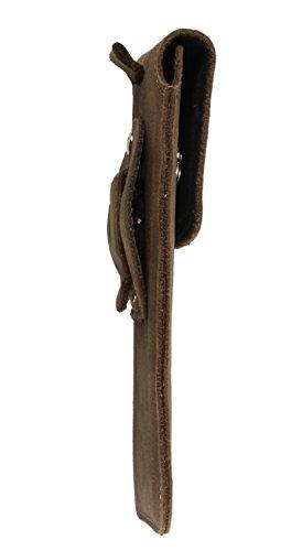 Slim Design Echt Ledertasche Handytasche Gürteltasche Vertikaltasche Matador Schwarz/Black iPhone 8 Plus Magnetverschluss Gürtelclip/Gürtelschlaufe (Easy Out System) Tabacco Braun