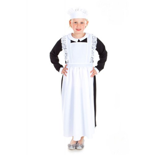 Nightingale Kostüm Kind Florence - Downton Maid Costume pour enfant de 3-5 ans
