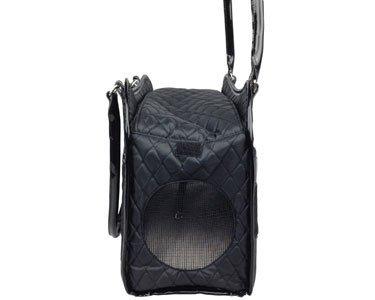 Exquisite' Handbag Fashion Pet Carrier, One Size, Black 4