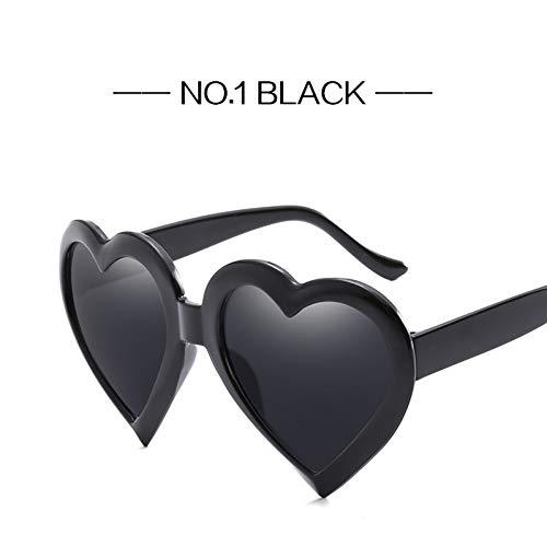 CCGSDJ Übergroße Liebe Herz Sonnenbrille Für Frauen Pfirsich Herzen Sonnenbrille Marke Desiger Sunglass Heart-Shaped Eyewears