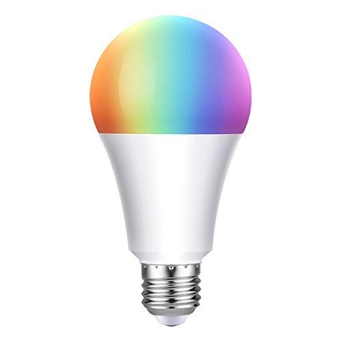 Wifi Smart Bulb LED multicolore Dimmable 650LM Lampadina a sfera 60W Lampadina Edison equivalente, telecomando per smartphone e controllo vocale di Amazon Alexa e Google Home Nessun hub richiesto (Warm White 7w E27)