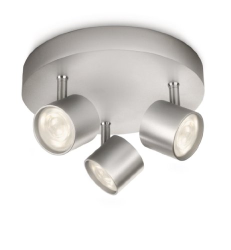 Philips myLiving LED Deckenspot Star 3-flammig, aluminium