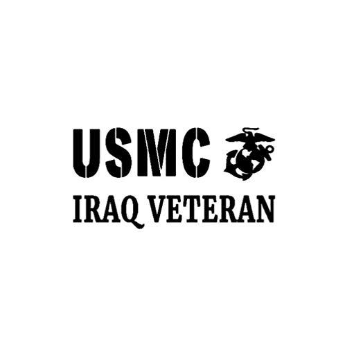 eber USMC Irak Veteran Vinyl Applique Auto Aufkleber Marine Corps Semper Fi 14,8 cm * 7,5 cm ()