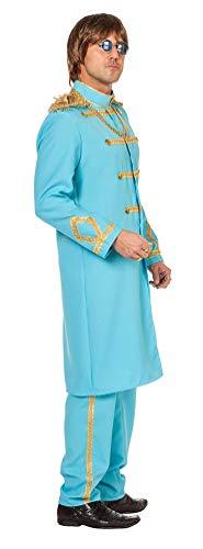 Karneval-Klamotten Sergeant Pepper Kostüm Herren Fasching Jacke Frack Uniform-Jacke mit Hose Uniform Herren-Kostüm hellblau Größe ()