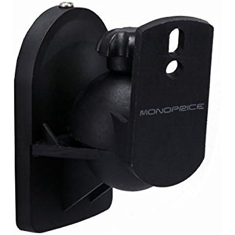 Monoprice 106979 - de altavoces soporte de montaje para pared negro (juego de 2)