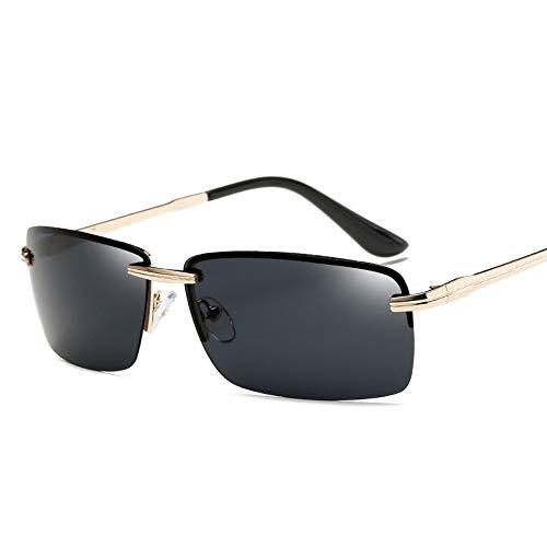 WDDYYBF Sonnenbrillen, Männer Sonnenbrille Sonnenbrille Fahren Männer Classic Low Profile Sonnenbrillen Für Männer Im Freien Uv400 Gold Grau