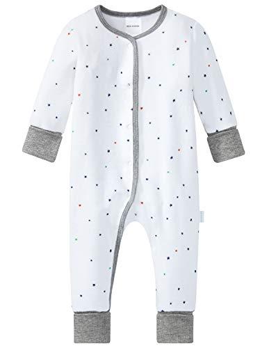 Schiesser Unisex Baby Anzug mit Vario Zweiteiliger Schlafanzug, Weiß (Weiss 100), 86 (Herstellergröße: 086)
