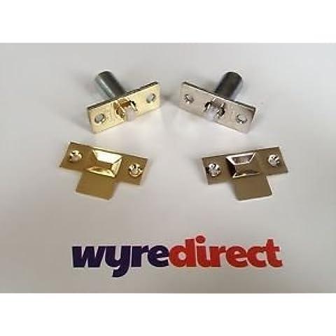 El ajuste Wyre Direct rodillo para puerta primavera de latón pulido