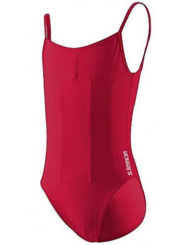 Verkauf Tanzkleider Kostüm - s.lemon U-Form Zurück Schlinge Trikots Ballett Gymnastikanzug Kostüme Tanzkleider Unterhemd Röcke für Mädchen Kinder (rot, S/Körpergröße: 100-110 cm)