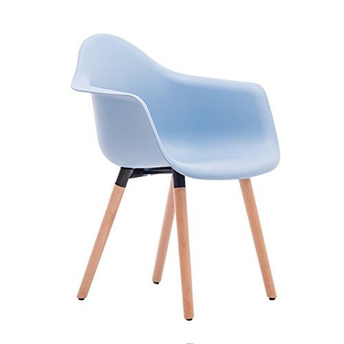 YIXINY Chaise Chaise De Bureau Bois Massif Fauteuil Chaise D'ordinateur Simple Chaise De Bureau Loisirs Chaise De Café ( Couleur : Bleu clair )