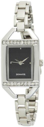 Sonata Analog Black Dial Women's Watch - 87005SM01A