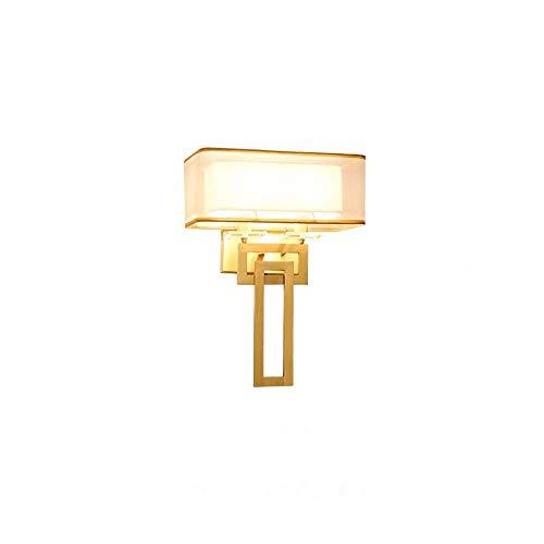 GSAGJbd Rechteck Plug-in Wandleuchte, Wohnzimmer Wandleuchte Licht, Metall Satin Nickel, weißer Stoffschirm, Top Qualität for Heim und Hotel. -