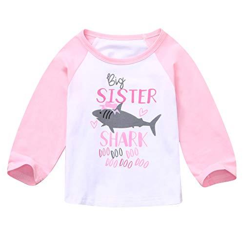 Sunnywill Baby Neugeborenes Bekleidungssets Outfits Herbst Warm Jumpsuit Kleinkind Jungen Mädchen Haifisch DOO T Shirt übersteigt T Stück Bruder und Schwester (Baby Bruder Und Schwester Kostüm)