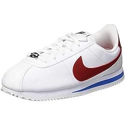 Nike Cortez Basic SL (GS), Zapatillas de Gimnasia para Niñas, Blanco (White Red/Varsity Royal 103), 36 EU