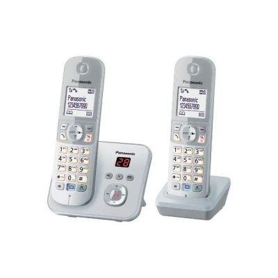 Preisvergleich Produktbild Panasonic KX-TG6822GS perlsilber Duo mit AB