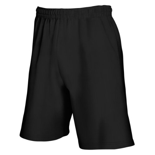 Fruit Loom-hosen The Of (Fruit Of The Loom Herren Jogging-Shorts / Shorts, leicht XL,Schwarz)