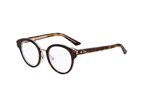 Dior Brillen Für Frau MONTAIGNE7 G9Q, Tortoise / Crystal Kunststoffgestell