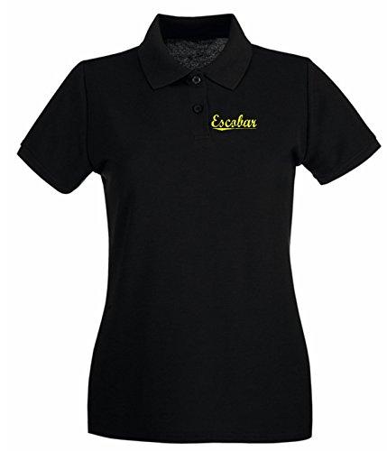 Cotton Island - Polo pour femme OLDENG00476 escobar yellow Noir