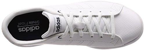 Adidas Advantage Clean Qt, Chaussure De Ginnastica Basse Donna Bianco (chaussures Blanc / Chaussures Blanc / Collégiale Marine)