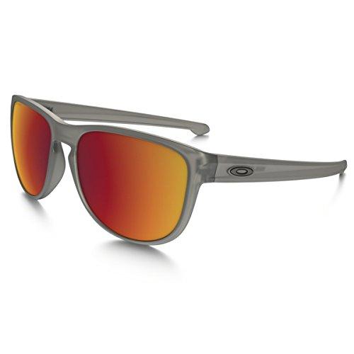 Oakley Herren Sonnenbrille SLIVER R Grau (Matte Grey Ink/Torchiridiumpolarized), 57
