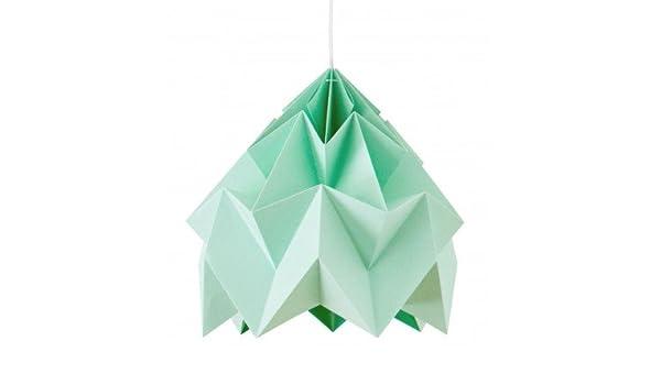Studio Snowpuppe Lamp : Origami moth xl diameter cm mint snowpuppe amazon