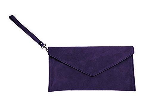 scarlet bijoux-Damen Clutch Tasche Unterarmtasche Abendtasche Umhängetasche lila ca.31,5 x 16,5 x 1,0 cm (B x H x T)
