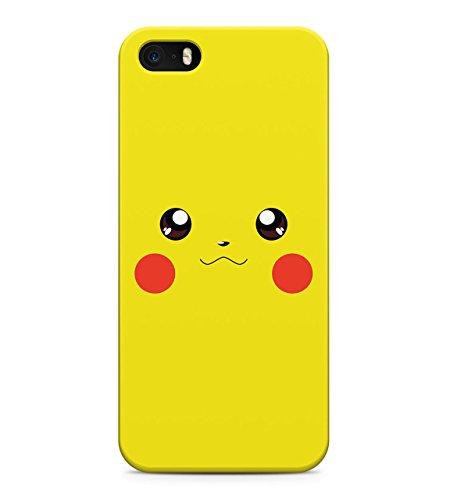 Pikachu Face Pika Pokemon Face Ash Kanto Hard Plastic Snap On Back Case Cover For iPhone 5 / 5s Custodia