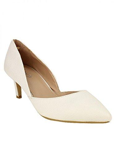 Cendriyon, Escarpin Blanc ROMANTICA Chaussures Femme Blanc