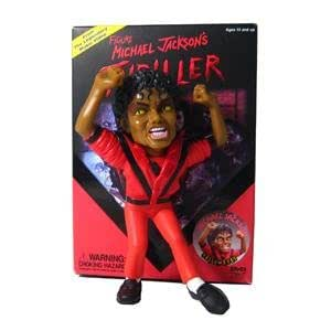 Surviving Dolls - Michael Jackson statuette Super Deformed Thriller Edition Spéciale Yellow Eyes - 17 cm