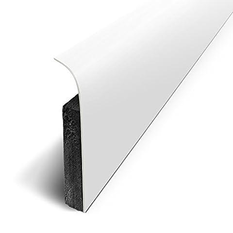 Pack de 5 Plinthes Adhésives Coloris Blanc Mat Long.120 cm