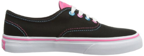 Vans T AUTHENTIC blk Sneaker, Unisex Bambino Nero (Pop Eyelets Bl)