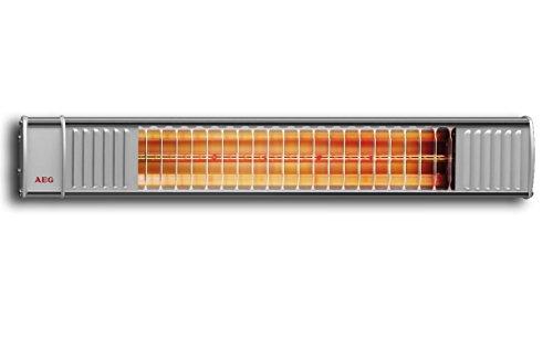 AEG Terrassen-Heizstrahler IR Premium 2000 H mit Hirschmannstecker, 2000 W, hocheffiziente Qualitäts-Goldröhre, 229946