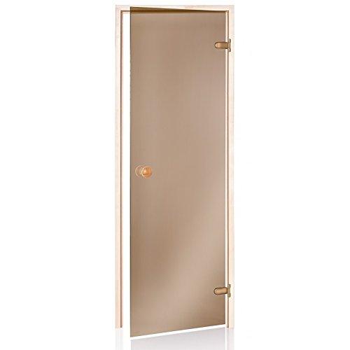 Saunatür ECO 70x190 Glasfarbe: Bronze Rahmen: Espe